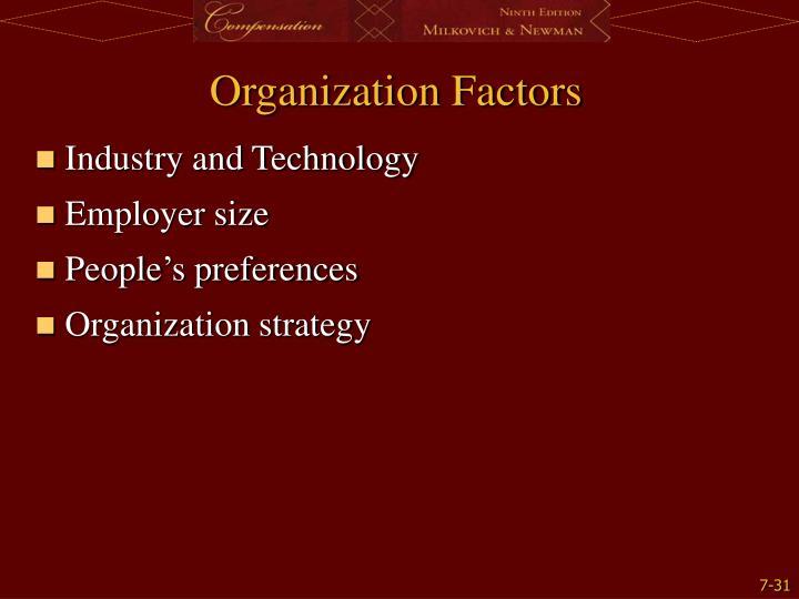 Organization Factors