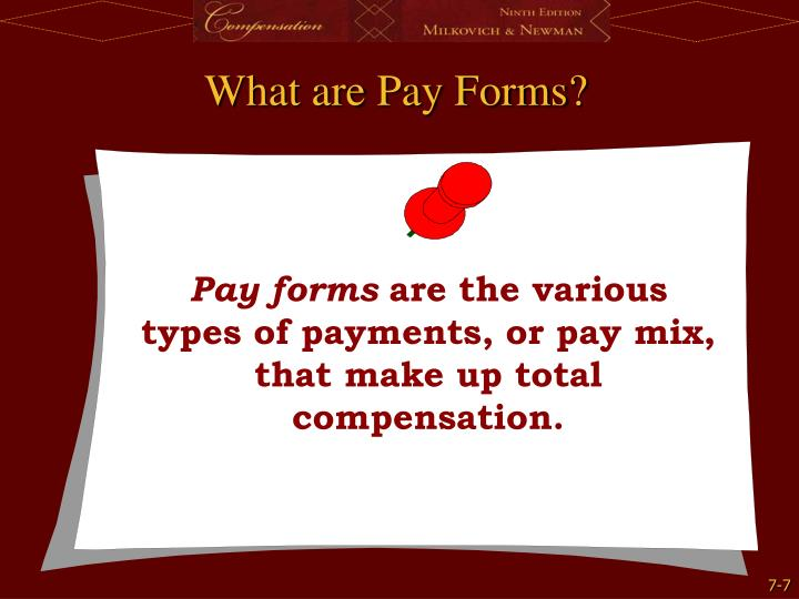 What are Pay Forms?