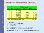 modifisert internrente modir1