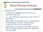 menu planning strategies