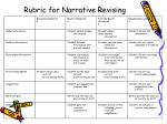 rubric for narrative revising