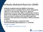 antibody mediated rejection amr