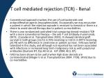 t cell m e diated rejection tcr renal