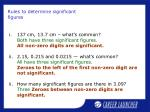 rules to determine significant figures