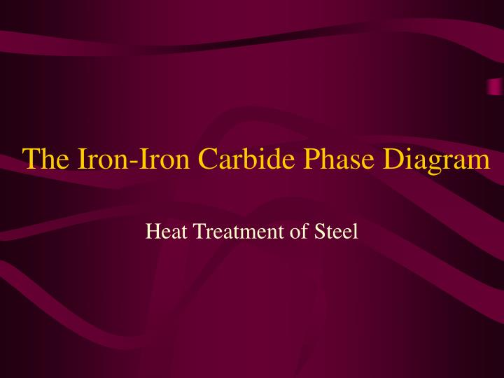 the iron iron carbide phase diagram n.