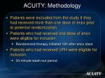 acuity methodology