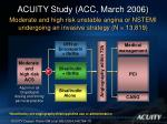 acuity study acc march 2006