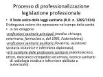 processo di professionalizzazione legislazione professionale1