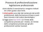 processo di professionalizzazione legislazione professionale6