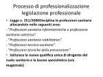 processo di professionalizzazione legislazione professionale8