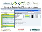 example customized grouping of issues