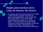 reglas para escritura de la l nea de n mero de archivo2