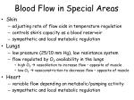 blood flow in special areas1