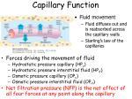 capillary function1
