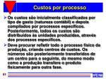 custos por processo