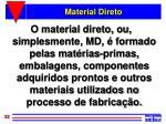 material direto1