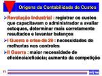 origens da contabilidade de custos