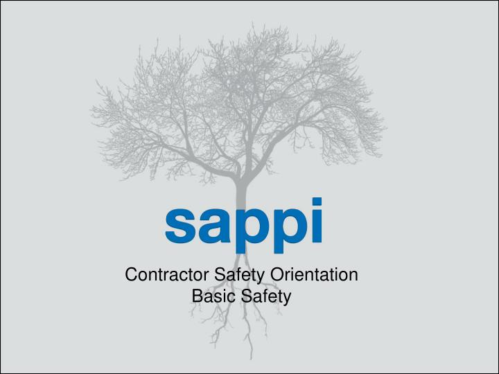 contractor safety orientation basic safety n.