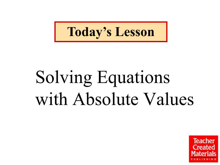 solving equations with absolute values n.