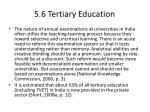 5 6 tertiary education