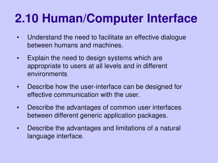 Ppt 2 10 Human Computer Interface Powerpoint Presentation Free Download Id 6868635