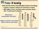 fats 9 kcal g