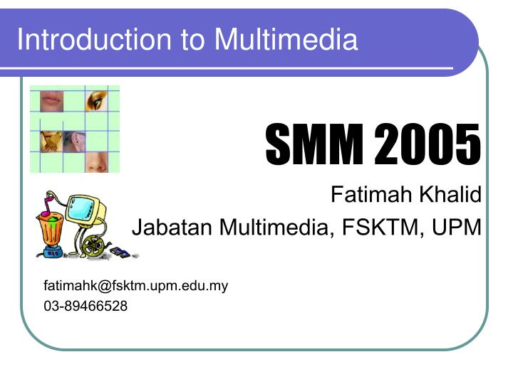 introduction to multimedia n.