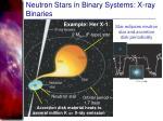 neutron stars in binary systems x ray binaries