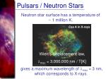 pulsars neutron stars