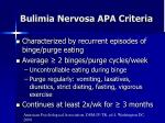bulimia nervosa apa criteria
