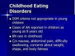 childhood eating disorders