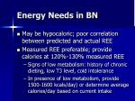 energy needs in bn