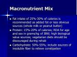 macronutrient mix