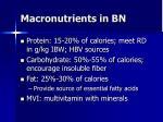 macronutrients in bn