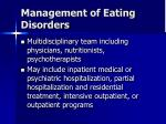 management of eating disorders