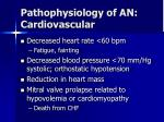 pathophysiology of an cardiovascular