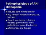 pathophysiology of an osteopenia