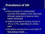 prevalence of an