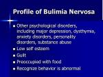 profile of bulimia nervosa