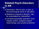 related psych disorders in an