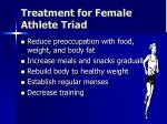 treatment for female athlete triad