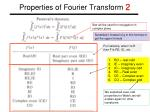 properties of fourier transform 2