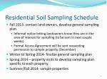 residential soil sampling schedule