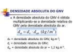 densidade absoluta do gnv