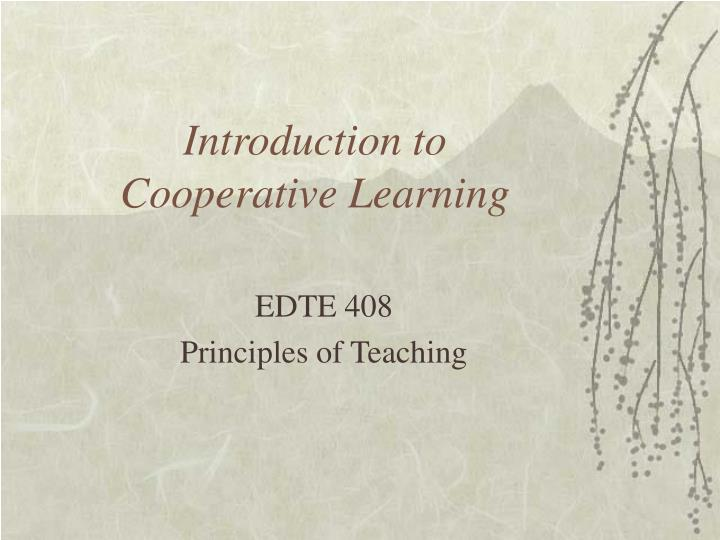 introduction to cooperative learning n.