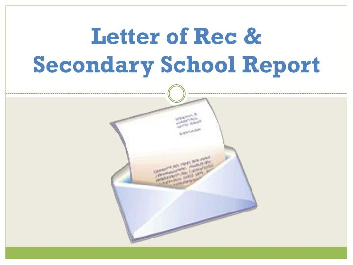 letter of rec secondary school report n.