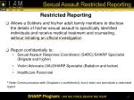 sexual assault restricted reporting