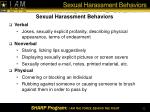 sexual harassment behaviors