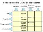 indicadores en la matriz de indicadores1