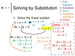 solving by substitution1